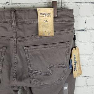 SILVER | Suki high rise super skinny stretch pants